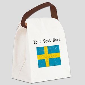 Sweden Flag Canvas Lunch Bag