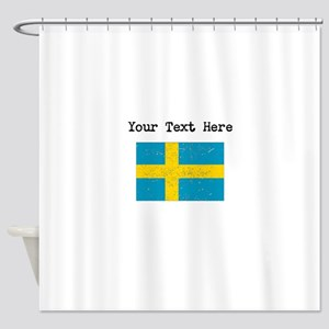Sweden Flag Shower Curtain