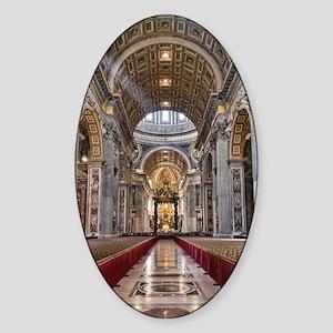 St. Peter's Basilica Sticker (Oval)