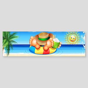 Summer Relax on the Sea Bumper Sticker