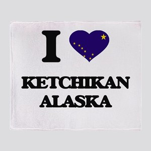 I love Ketchikan Alaska Throw Blanket