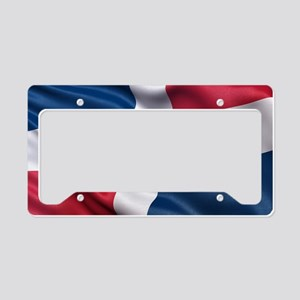 Dominican Republic flag License Plate Holder