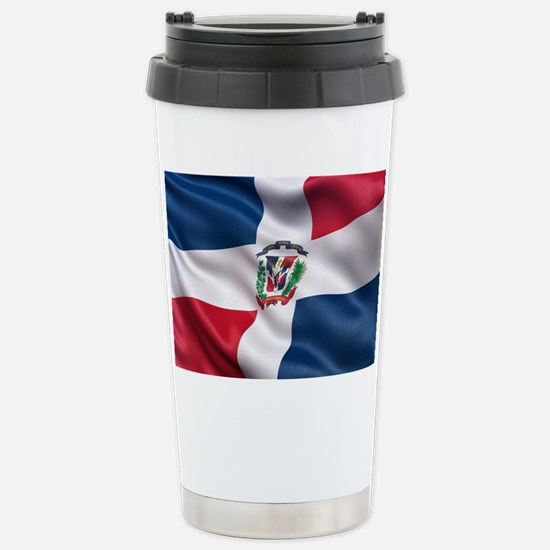 Dominican Republic flag Stainless Steel Travel Mug