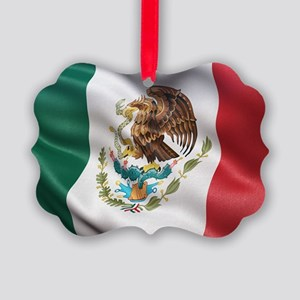Mexico flag Picture Ornament