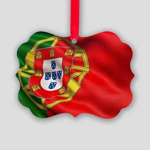 Portugal flag Picture Ornament