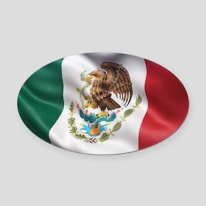Mexico flag Oval Car Magnet