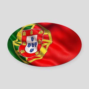 Portugal flag Oval Car Magnet