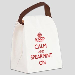 Keep Calm and Spearmint ON Canvas Lunch Bag
