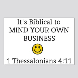 Mind Your Own Business, I Postcards (Package of 8)