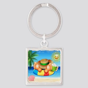 Summer Relax on the Sea Keychains