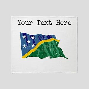 Solomon Islands Flag Throw Blanket