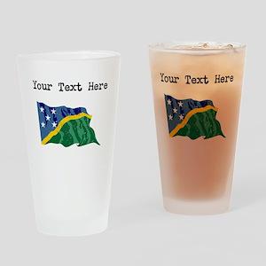 Solomon Islands Flag Drinking Glass