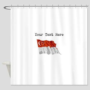 Singapore Flag Shower Curtain