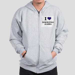 I love North Pole Alaska Zip Hoodie