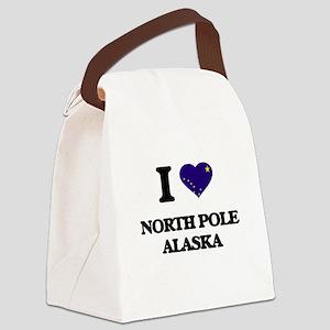 I love North Pole Alaska Canvas Lunch Bag