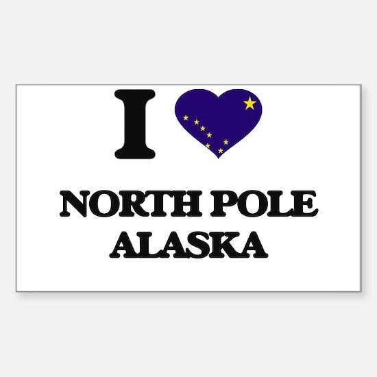 I love North Pole Alaska Decal