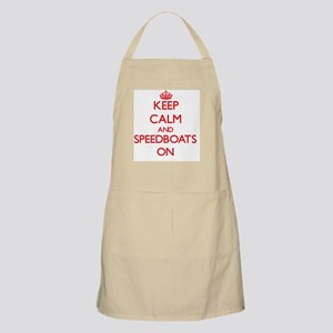 Keep Calm and Speedboats ON Apron