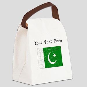 Pakistan Flag Canvas Lunch Bag