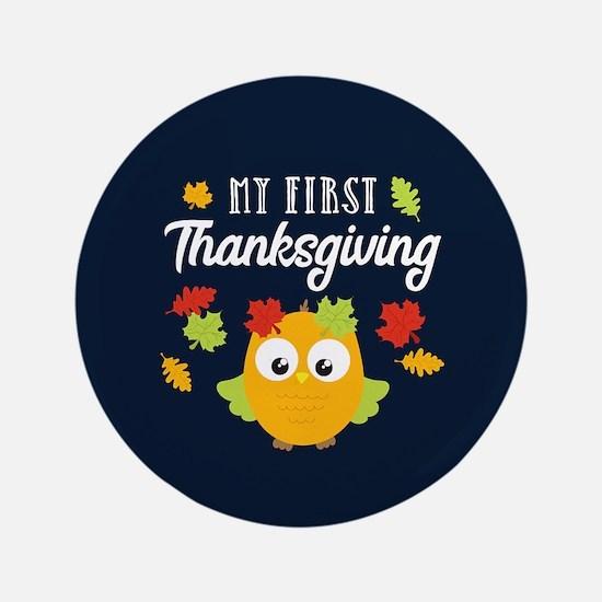"1st Thanksgiving 3.5"" Button"