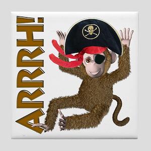 Pirate Monkey Tile Coaster