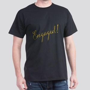 Engaged Gold Faux Foil Glitter Metallic We T-Shirt