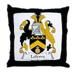 Lefevre Family Crest Throw Pillow
