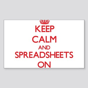 Keep Calm and Spreadsheets ON Sticker