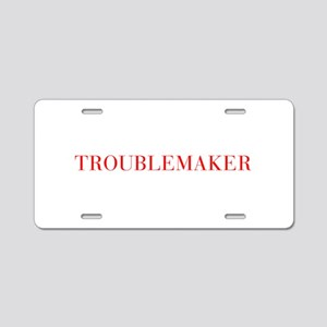Troublemaker-Bau red 500 Aluminum License Plate