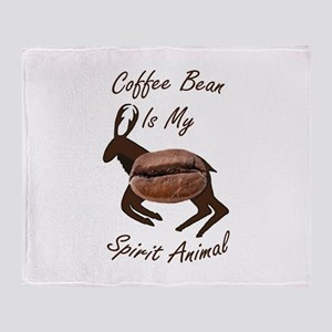 Coffee Bean Spirit Animal Throw Blanket