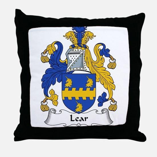 Lear Family Crest Throw Pillow