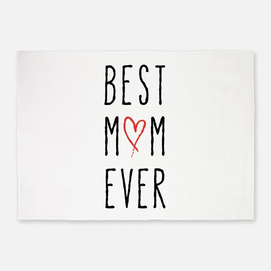 Best mom ever 5'x7'Area Rug