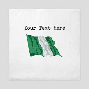 Nigeria Flag Queen Duvet