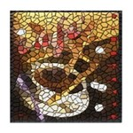 Stain Glass Coffee Cafe  Tile Coaster