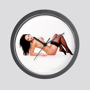 Nude Pinup Girl Wall Clock