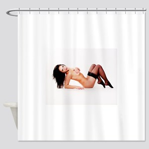 Nude Pinup Girl Shower Curtain