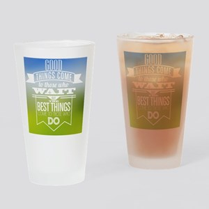 Take action Drinking Glass