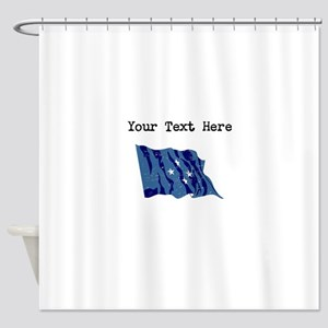 Micronesia Flag Shower Curtain