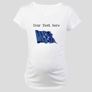 Micronesia Flag Maternity T-Shirt