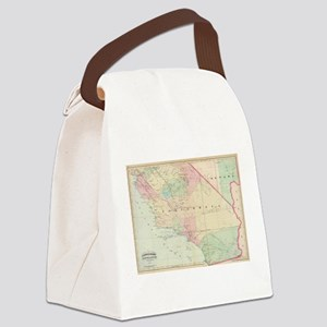 Vintage Map of Southern Californi Canvas Lunch Bag