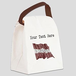 Latvia Flag Canvas Lunch Bag