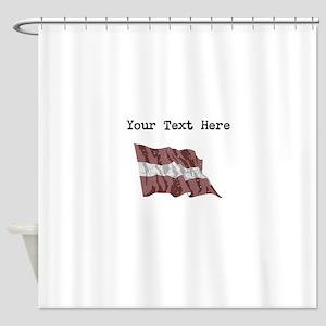 Latvia Flag Shower Curtain