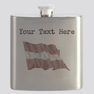 Latvia Flag Flask
