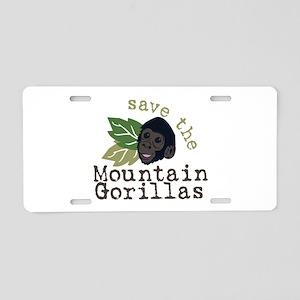 Save The Mountain Gorillas Aluminum License Plate