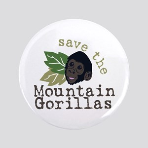 Save The Mountain Gorillas Button