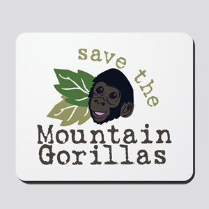 Save The Mountain Gorillas Mousepad