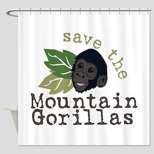 Save The Mountain Gorillas Shower Curtain
