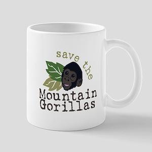 Save The Mountain Gorillas Mugs