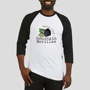 Save The Mountain Gorillas Baseball Jersey