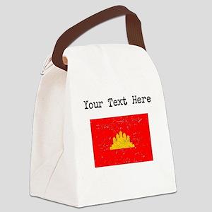 Kampuchea Flag Canvas Lunch Bag