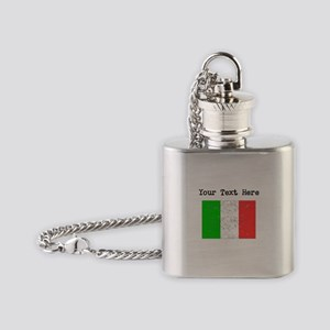 Italy Flag Flask Necklace
